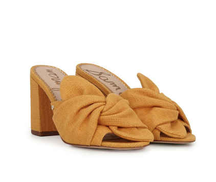yellow block heel