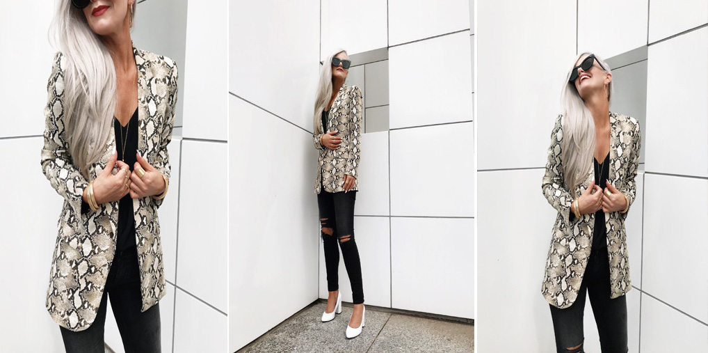 b1809720 Zara Snake Skin Blazer: OBSESSED. What can I say?! Affordable, edgy and  timeless are always great features to any blazer (or piece in your closet,  that is).